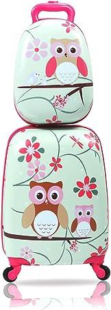 Sandinrayli 2-Piece Rolling Kids Luggage