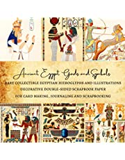 Ancient Egypt Gods and Symbols | Rare Collectible Egyptian Hieroglyphs and Illustrations | Decorative Double-Sided Scrapbook Paper: Premium Pages for Card Making, Journaling and Scrapbooking