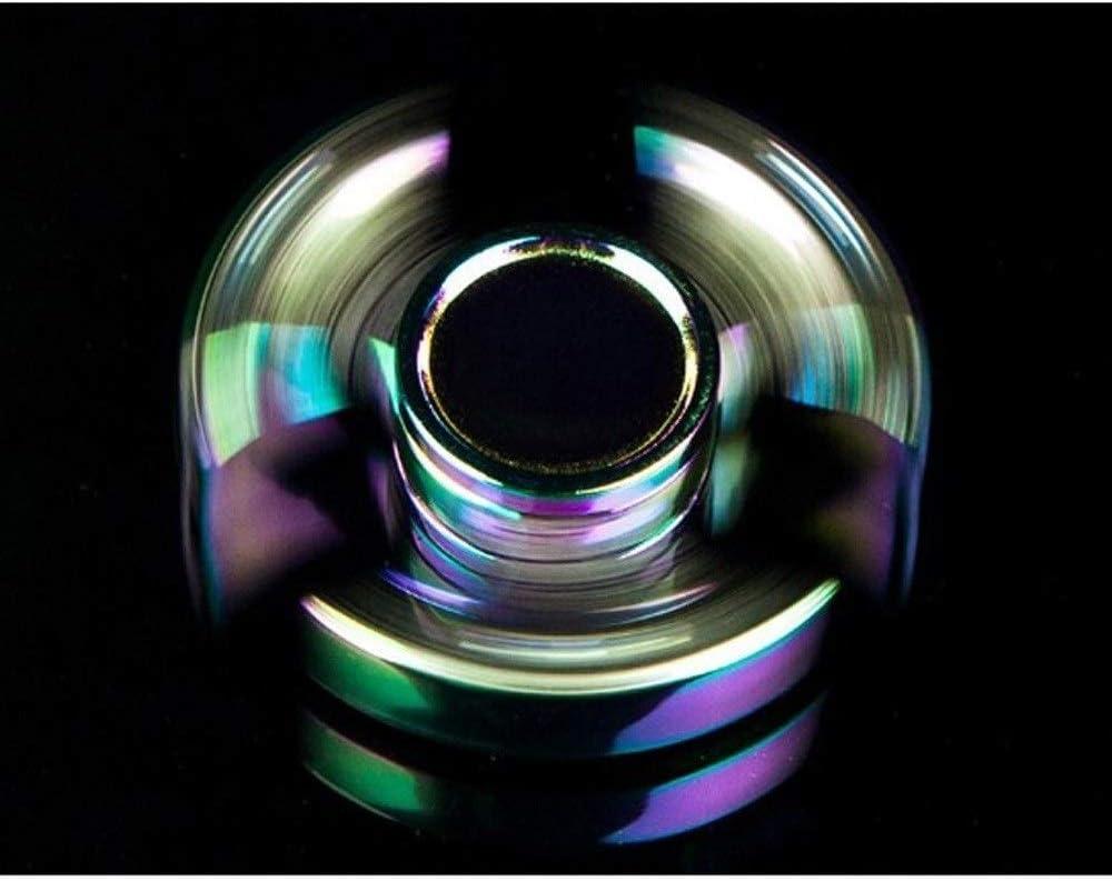 PPITVEQ Pure Steel Maya-Muster Fidget Hand Spinners Fingertip Gyroskop Dekompression spielt Finger EDC ADHS Fokus Angst Stress Relief Spielzeug Color : Blau