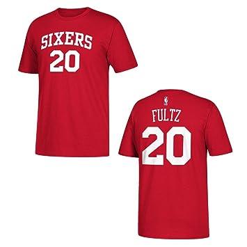 Adidas Philadelphia 76ers markelle Fultz Rojo Nombre y número Camiseta, Rojo: Amazon.es: Deportes y aire libre