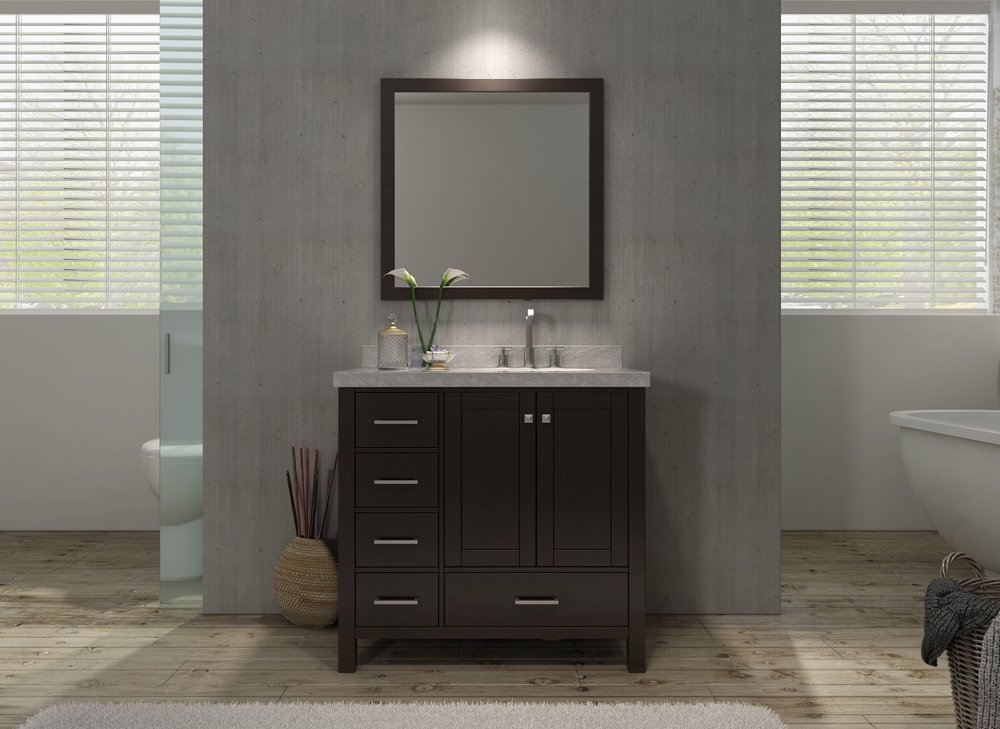 sink and vanity set. Cambridge 37  Single Sink Vanity Set w Right Offset in Espresso Amazon com