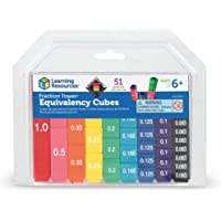 Learning Resources LER2509 Fraction Tower Cubes Equivalency Set 7.5 x 8.5 x 1.75 inches