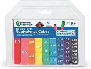 Math Skills Kids Toddlers Fraction Learning Blocks Set School Teaching Aids