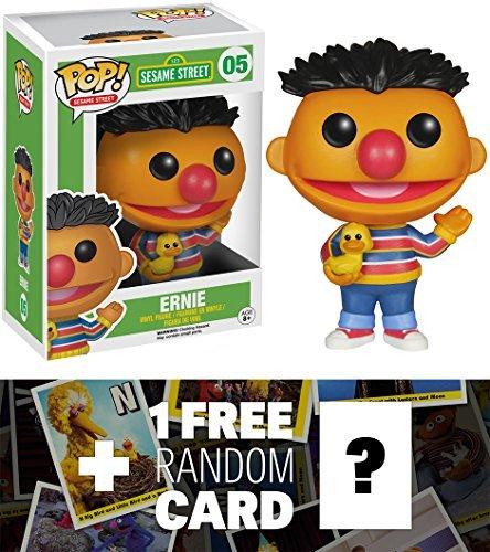 (Ernie: Funko POP! x Sesame Street Vinyl Figure + 1 FREE Official Sesame Street Trading Card Bundle [49089])