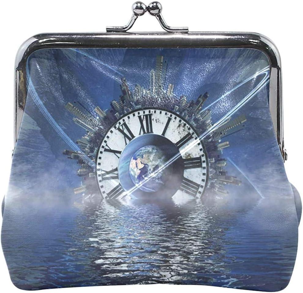 Monedero Reloj Azul Monedero Monedero Mujer