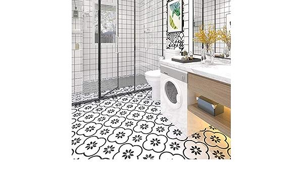 Sticker Tile Stickers Fliesenaufkleber Bad For Kitchen Bathroom Back Splash Floor Decals Modern Encaustic Ciment Carreaux Peel /& Stick Vinyl Adhesive Tiles Set 12 Units
