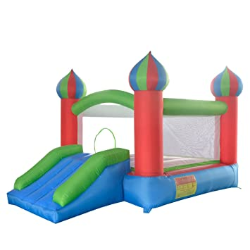 Salto Feliz Mini Castillo Hinchable Modelo Aladino con obstaculo ...