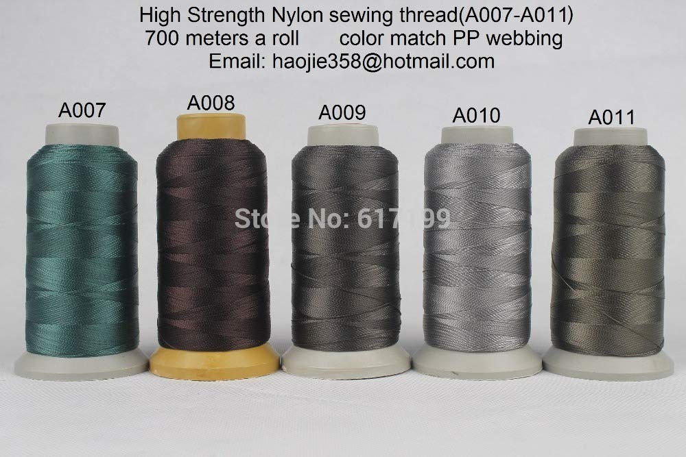 Laliva 700 Meters a roll High Tenacity Nylon Sewing Threads (A007-A011) Color Match PP Webbing (5 Rolls a Pack) by Laliva
