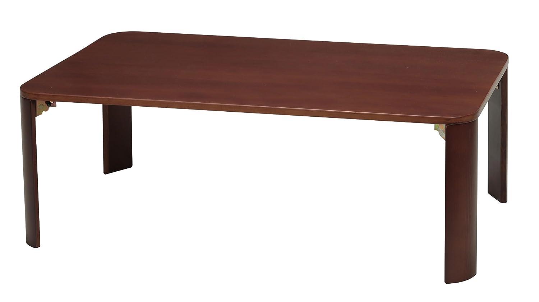 永井興産 軽量ホームテーブル 90 ブラウン B0176DC7Z4  ブラウン