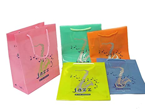 Desconocido Set 5 Bolsas PLASTICO PVC Asas Cordon Jazz IN ...