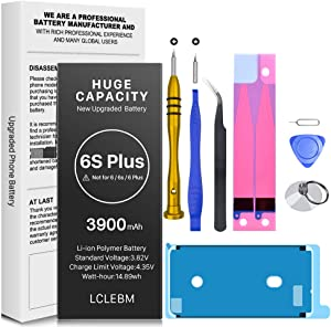 3900mAh Upgraded Battery for for iPhone 6S Plus, LCLEBM New 0 Cycle Higher Capacity Battery Replacement for iPhone 6S Plus with Complete Repair Tools Kits (NOT for 6S/6Plus)