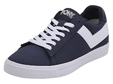 4a53bc0faa Pony Women s Top-Star-Lo-Core-Canvas Navy White Sneakers Shoes