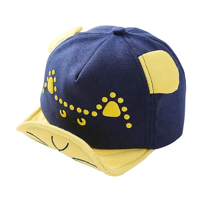 Gysad Forma de Gato Sombrero Niños Lindo Gorras Planas Cómodo Sombrero Bebe Size 44-48cm (A): Amazon.es: Ropa y accesorios