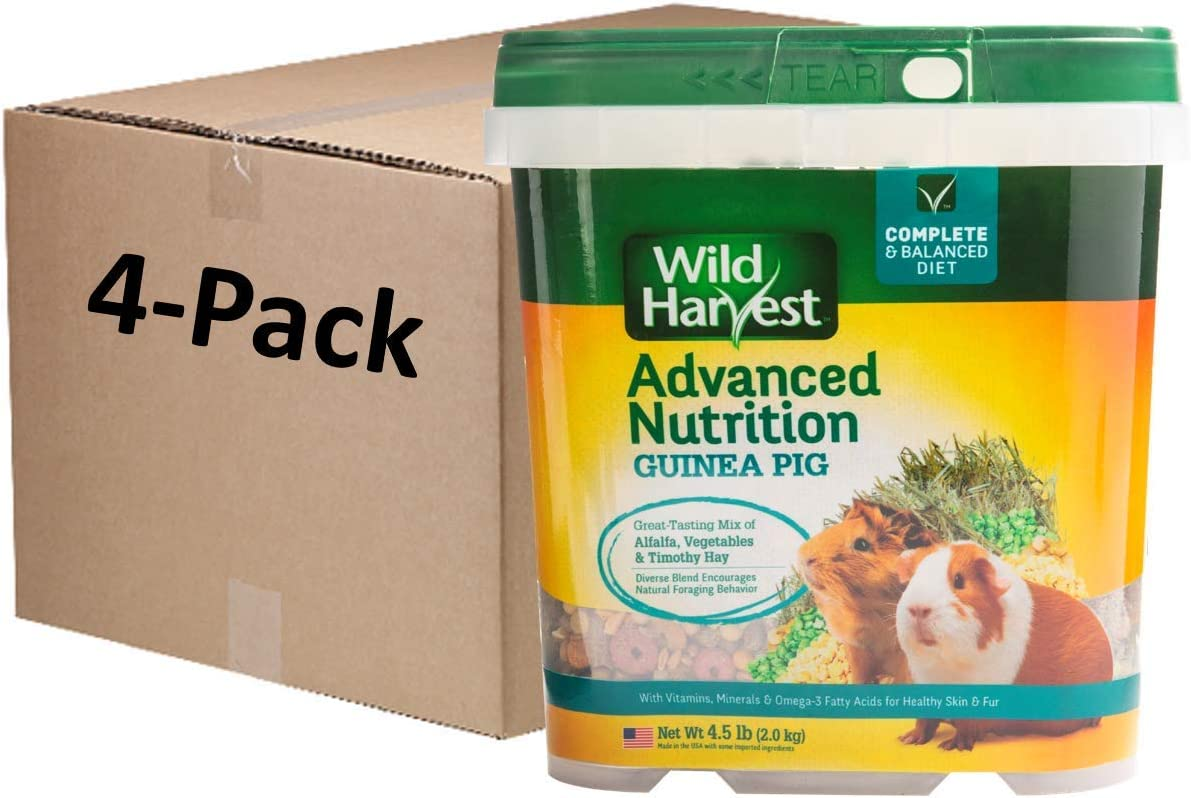 Wild Harvest Advanced Nutrition Guinea Pig 4.5 Pounds, Complete and Balanced Diet, Pack of 4