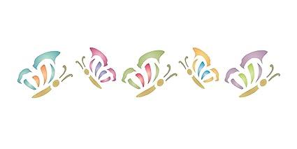 Plantilla de mariposa - 16,5 x 3 cm - plantilla reutilizable de ...