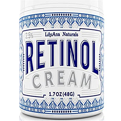 Retinol Cream Moisturizer for Face and Eyes, Use Day and Night - for Anti Aging, Acne, Wrinkles - made with Natural and Organic Ingredients - 1.7 OZ
