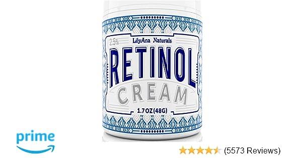 LilyAna Naturals Retinol Cream Moisturizer 1 7 Oz