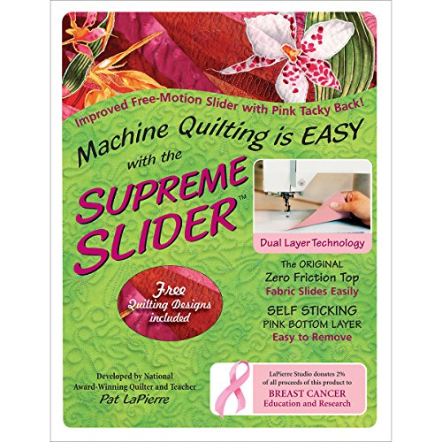 LaPierre Studio LPSFMSS Free Motion Supreme Slider Quilting Notions by LaPierre Studio