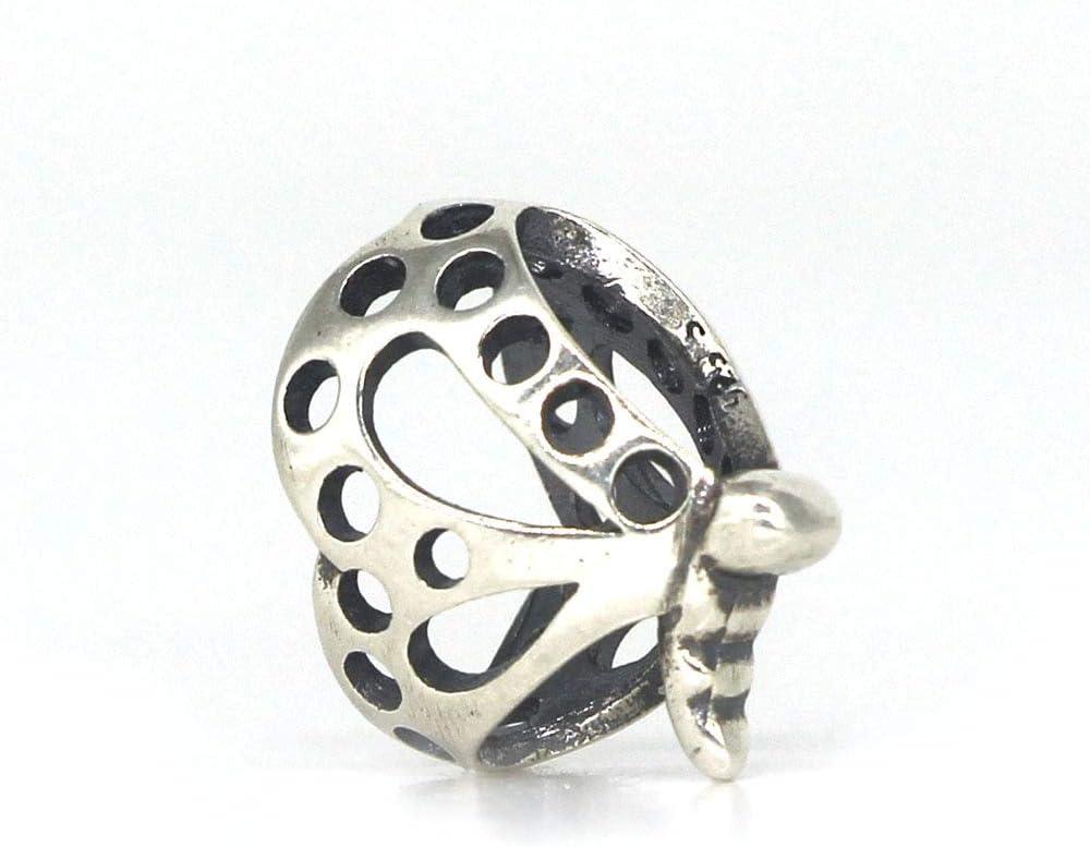 Pukido Mistletoe Jewelry Genuine 925 Sterling Silver Dancing Butterfly Charm Bead Only Fits European Troll 3.0mm Bracelet Jewelry