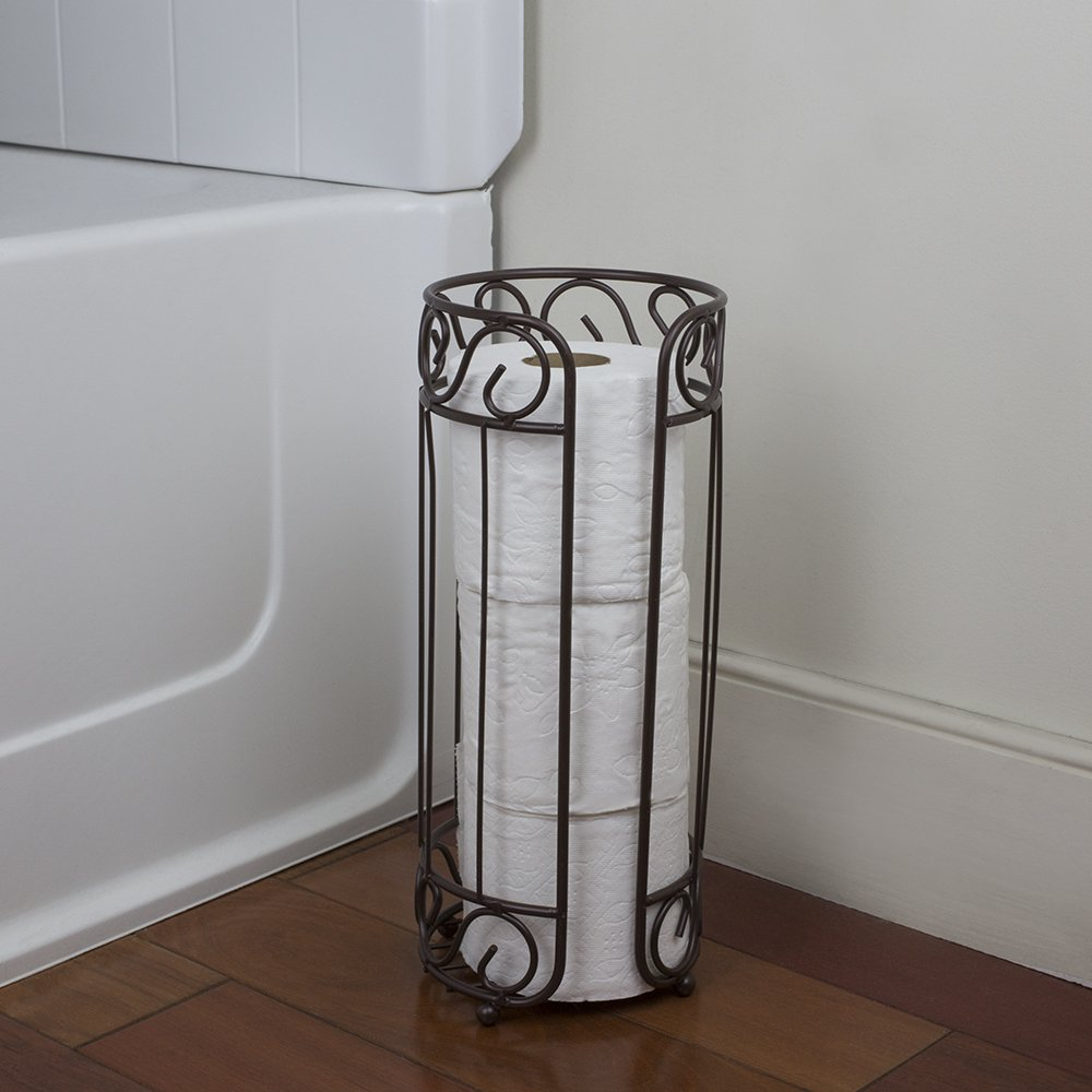 Home Basics TH10661 Toilet Paper Holder, Bronze Finish