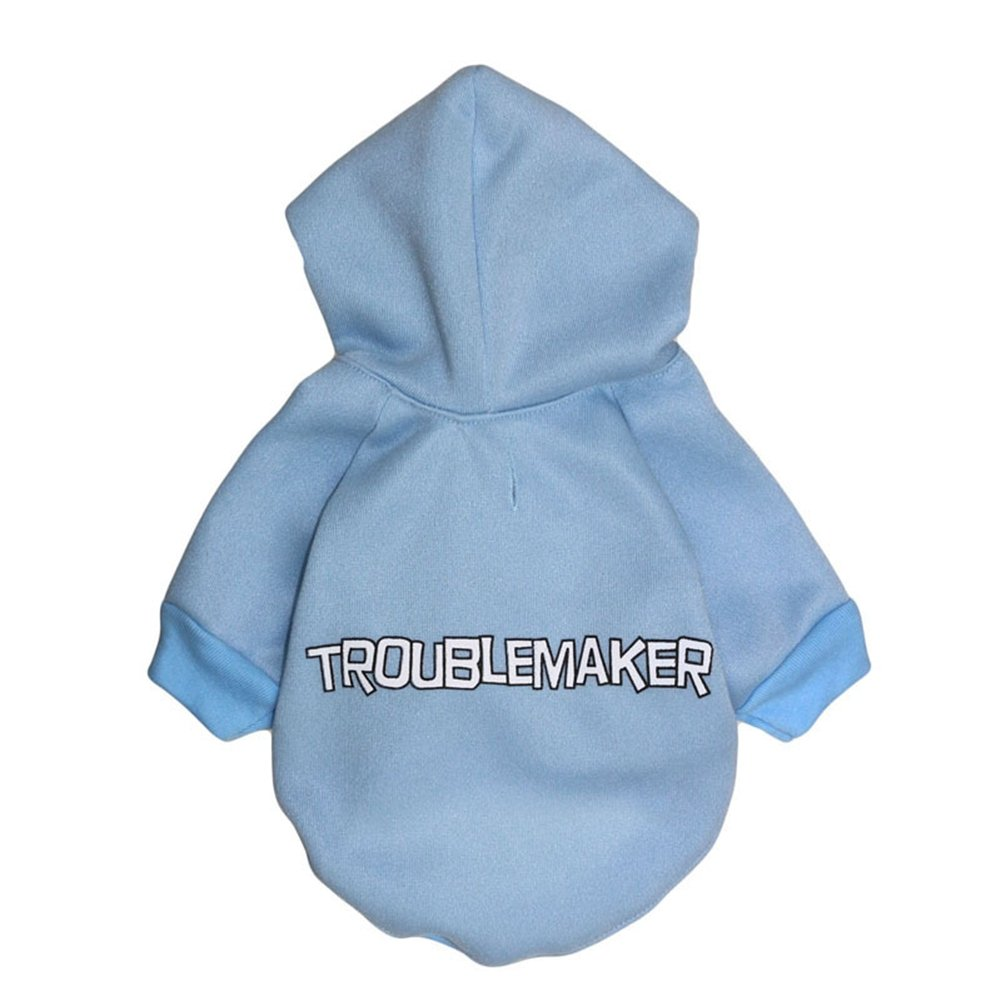Troublebluee XS Troublebluee XS GINBL Pet Small Dog Troublemaker Print Hoodie for Cute Dogs Sweatshirt Puppy Winter Costume Hoodies