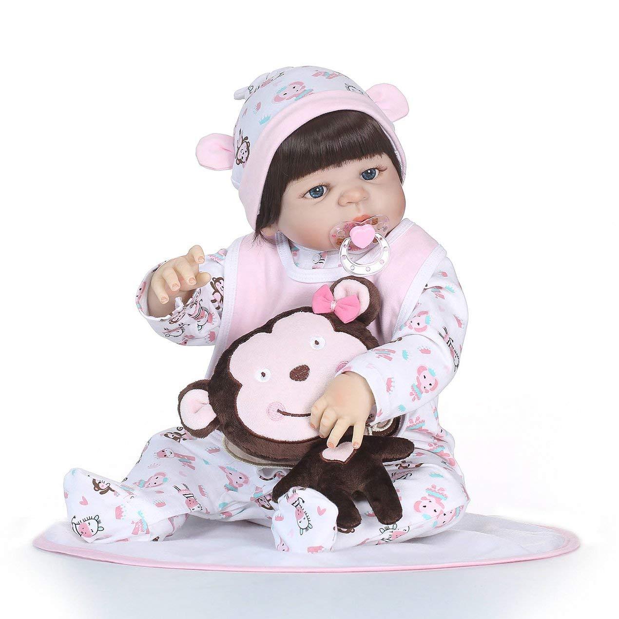 Dooret 21 Pulgadas de Silicona Vinilo muñeca Hecha a Mano de la muñeca del niño del Juego de niños Juguetes