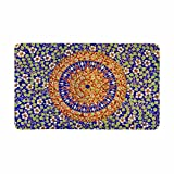 InterestPrint Traditional Thai Style on Temple Wall Doormat Anti-Slip Entrance Mat Floor Rug Indoor/Front Door Mats Home Decor, Rubber Backing Large 30 X 18 Inches