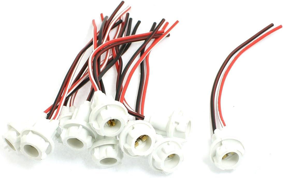 uxcell 6pcs T10 Light Bulb Wiring Harness Socket Holder Connector 12V-36V for Car