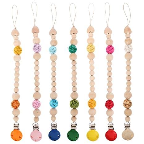 Sharplace 7 x Cadenas de Chupete Mordedor Crochet Suave de ...