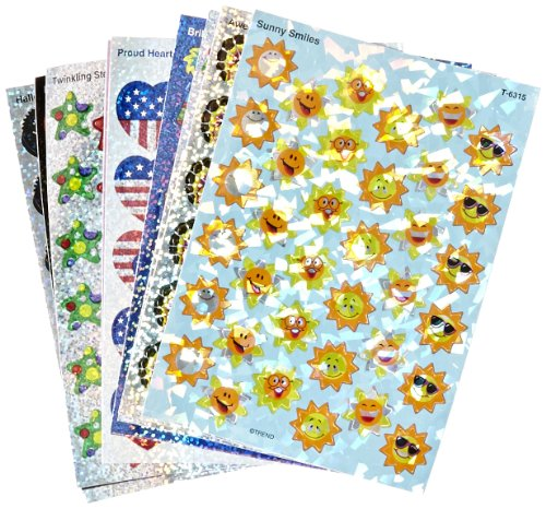 - Trend Enterprises Sparkle Stickers Holiday Celebrations Themed Jumbo Pack - 1 1/4 in - Pack of 648