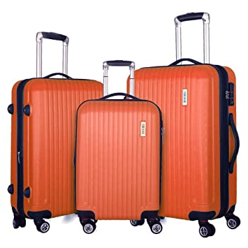 df9f1f9c48b1 Fochier 3 piece Luggage Sets Expandable Lightweight Spinner Suitcase with  TSA Lock