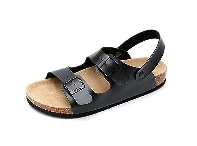d8f8f7335c23 WTW Women s Arizona Flat Cork Sandals Soft Suede Footbed Slides (US 6