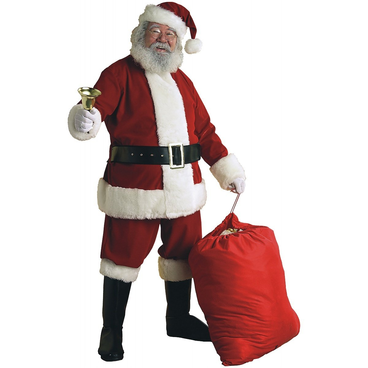 Deluxe Velvet Santa Suit Adult Costume - Large by Rubie's