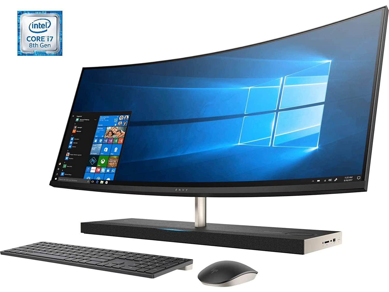 HP Envy Curved All-in-One -34-b100ns - Ordenador de sobremesa Todo en Uno QHD UltraWide 34