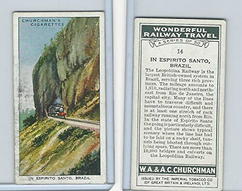 - C82-92 Churchman, Won. Rail Travel, 1937, 14 In Espirito Santo, Brazil