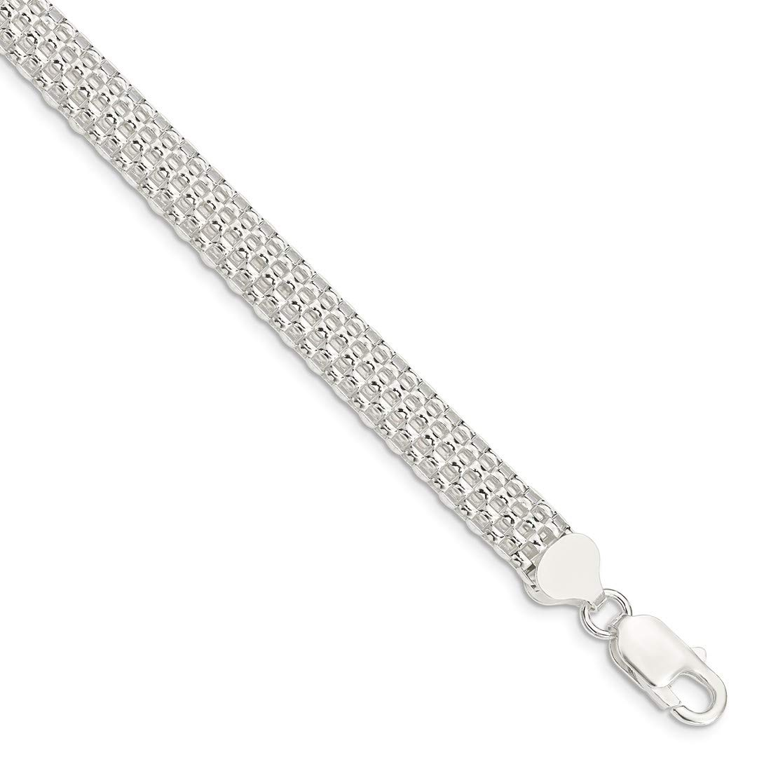 ICE CARATS 925 Sterling Silver Link Mesh Bracelet 7 Inch Fancy Chain Fine Jewelry Ideal Gifts For Women Gift Set From Heart