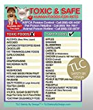 TOXIC and SAFE FOODS Poison for Pets Dogs Cats Emergency ICE Home Alone Refrigerator Safety Magnet (Qty. 1)