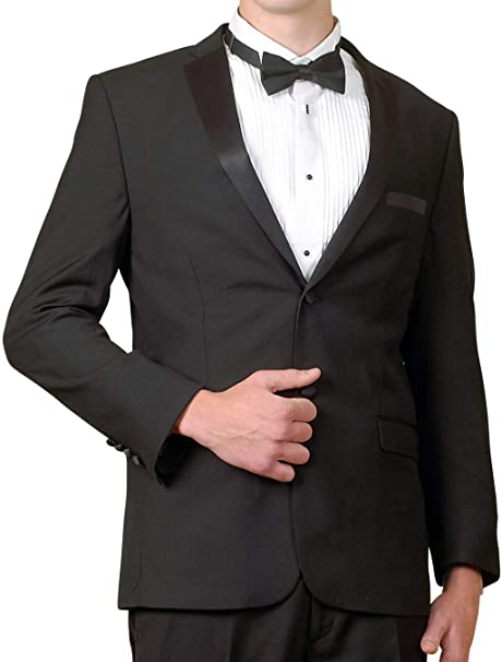 Amazon.com: Chaqueta de esmoquin negra para hombre Broadway ...
