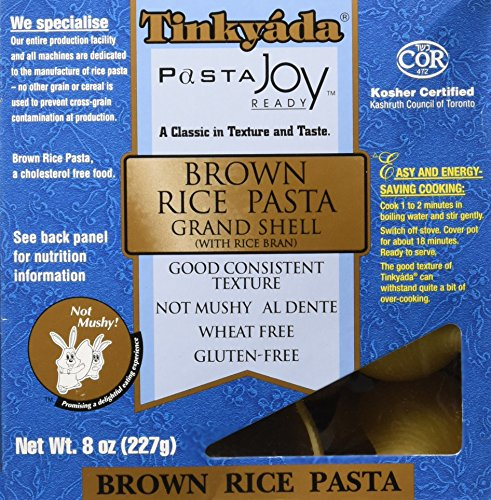 Organic Rice Macaroni - Tinkyada Brown Rice Pasta Grand Shell, 8 Ounce
