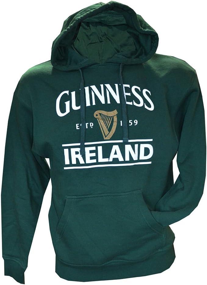 Guinness Pullover à Capuche Avec Grande brassée à Dublin étiquette couleur noir