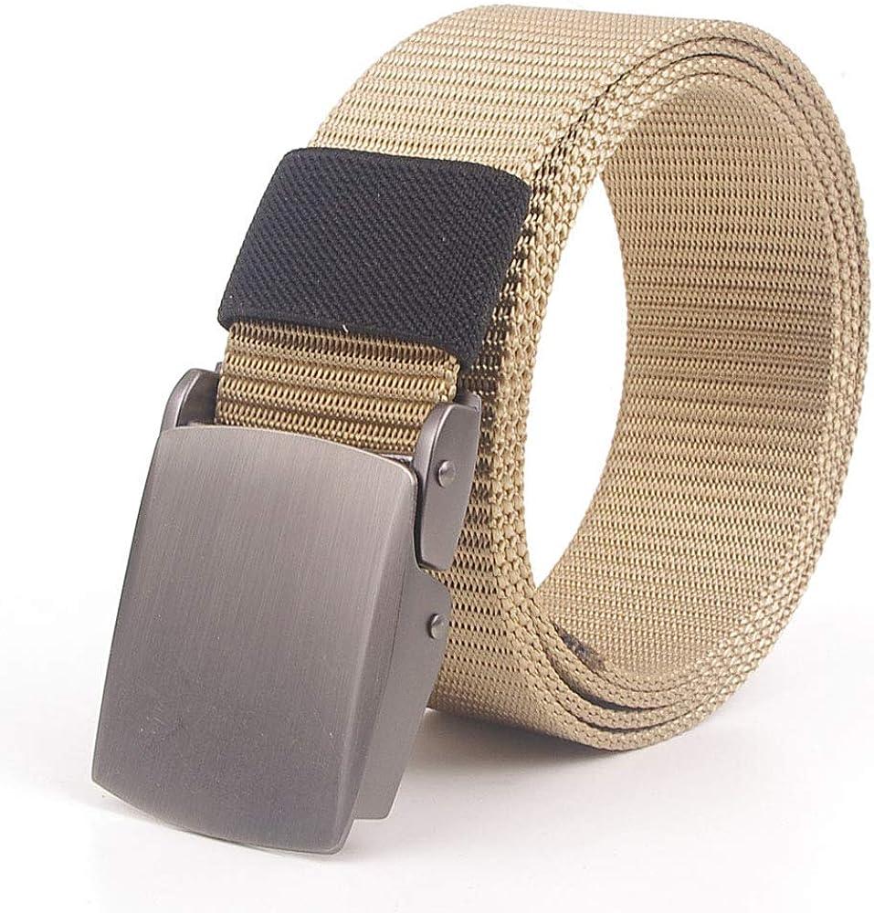 SBORT Cinturón cómodo con tejido elástico,Ideal para jeans y ropa casual y formal y de negocios y de trabajo,Lienzo, exterior, hombres, nylon, hebilla de metal, cierre rápido