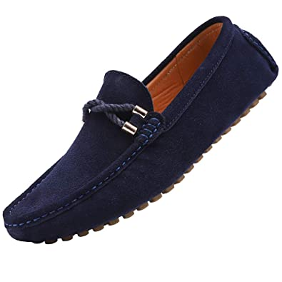 Yaer Mocasines de cuero de moda para hombre: Amazon.es: Zapatos y complementos