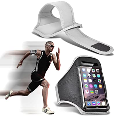 I-Sonite (White) Adjustable Sweatproof/Water Resistent Sports Fitness Running Cycling Gym Armband Phone Case For Lenovo S5