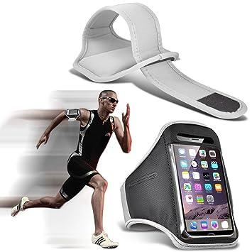 I-Sonite (White) Justierbarer Sweatproof/Wasser-beständiger Sport-Eignungs-Laufender Turnhallen-Armband-Telefon-Fall für Doog