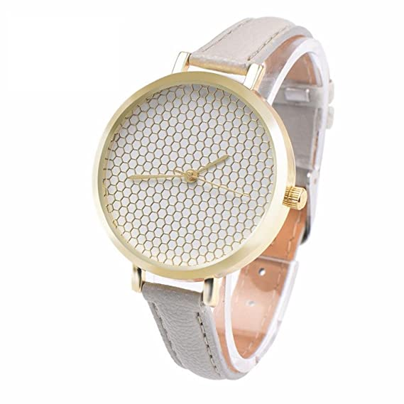 Réplica relojes, riuda Mujer Piel impresión analógico cuarzo Vogue moda neutral mesa reloj: Amazon.es: Relojes