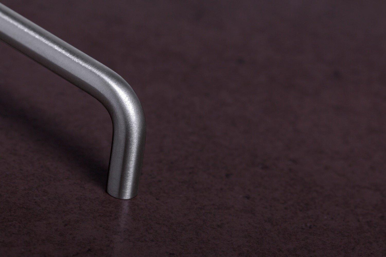 1 St/ück Gedotec Design echt Edelstahl Bogengriffe Stangengriffe Schubladengriff GEOS 10 f/ür K/üchenladen /& Schrankt/üren 74 x 10 x BA 64 mm Vollmaterial rostfrei