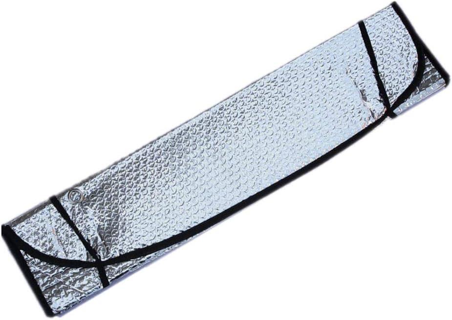 WOVELOT Car Parabrezza Pieghevole Parasole Parasole Anteriore E Posteriore Parasole Argento 140 70Cm