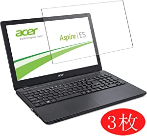 """【3 Pack】 Synvy Screen Protector for Acer Aspire E5-572 / E5-572g 15.6"""" TPU Flexible HD Film Protective Protectors [Not Tempered Glass]"""