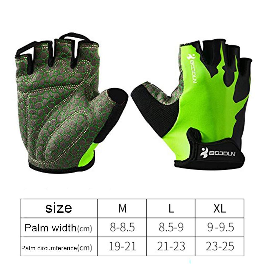 Wear-Resisting Non-Slip Comfortable Breathable Cycling Gloves Half Finger for Men Women Mountain Bike Sports Fitness Gloves