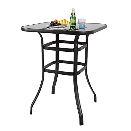 amazonia rectangular bar eurodam table contemporary tables bars at outdoor patio furniture warehouse collections